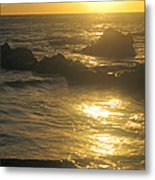 Golden Maui Sunset Metal Print