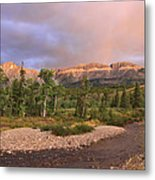 Golden Montana Mountain Metal Print