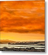 Golden Morning Over Humboldt Bay Metal Print