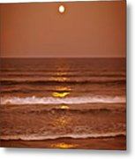 Golden Pathway To The Shore Metal Print