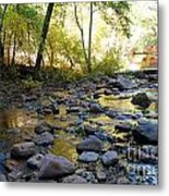 Golden Reflection In The Canyon Of  Light Metal Print
