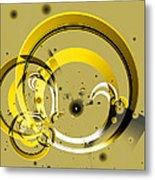 Golden Rings Metal Print