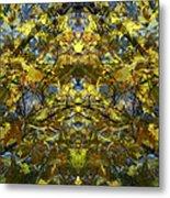 Golden Rorschach Metal Print