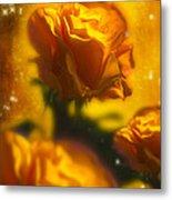Golden Roses Metal Print by Svetlana Sewell