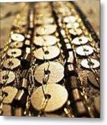 Golden Sequins Highway Metal Print