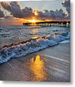 Golden Shadows Metal Print