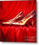 Golden Shoes - Pholaroid Sx-70 Metal Print