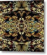 Golden Split Crop Metal Print