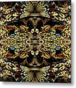 Golden Split Crop Metal Print by Peggi Wolfe