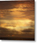 Golden Sunrise Squared Metal Print