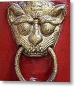 Golden Temple Door Knocker  Metal Print