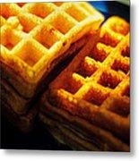 Golden Waffles Metal Print