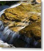 Golden Waterfall Glacier National Park Metal Print
