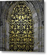 Golden Window - St Vitus Cathedral Prague Metal Print
