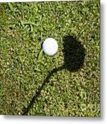 Golf Ball And Shadow Metal Print