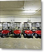 Golf Cart Parking Garage Metal Print