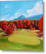 Golf Course In The Fall 2 Metal Print
