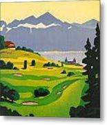 Golfing In Lausanne Metal Print