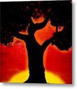 Gone With The Sunset Metal Print