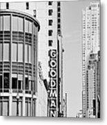 Goodman Theatre Center Chicago Metal Print