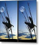 Goose At Dusk - Cross Your Eyes And Focus On The Middle Image Metal Print