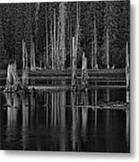 Goose Lake Dusk Metal Print