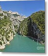 Gorges Du Verdon River From Sainte-croix Lake Metal Print
