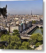 Gorgyle View Of Paris Metal Print