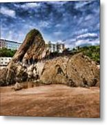 Goscar Rock Tenby 4 Painted Metal Print
