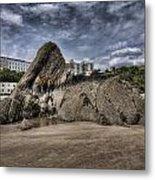 Goscar Rock Tenby 4 Metal Print