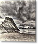 Goscar Rock Tenby Cream Metal Print