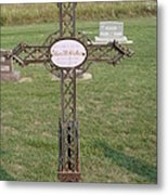 Gothic Grave Marker Metal Print