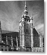 Gothic Saint Vitus Cathedral In Prague Metal Print