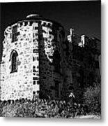 Gothic Tower Of The City Observatory Edinburgh Scotland Uk United Kingdom Metal Print