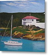 Government House At Cruz Bay Metal Print