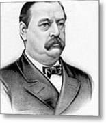 Governor Grover Cleveland - Twenty Second President Of The Usa Metal Print by International  Images