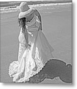 Gown Gathering Metal Print