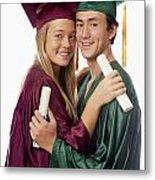 Graduation Couple Metal Print