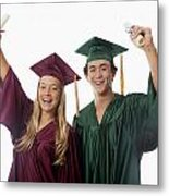 Graduation Couple V Metal Print
