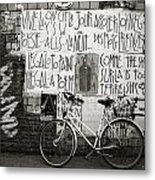 Graffiti And Bicycle Metal Print
