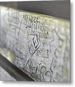 Graffiti Bench Metal Print
