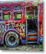 Graffiti Bus Metal Print