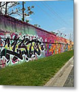 Graffiti Lane Metal Print