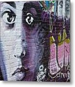 Graffiti Permission Wall Metal Print