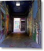 Graffiti Walkway Metal Print