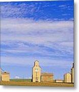 Grain Elevators, Mossleigh, Alberta Metal Print
