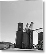 Grain Processing Facility In Shirley Illinois 2 Metal Print