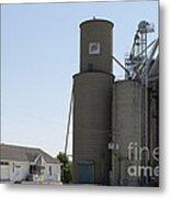 Grain Processing Facility In Shirley Illinois 3 Metal Print