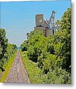 Grain Processing Facility In Shirley Illinois 4 Metal Print