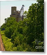Grain Processing Facility In Shirley Illinois 5 Metal Print